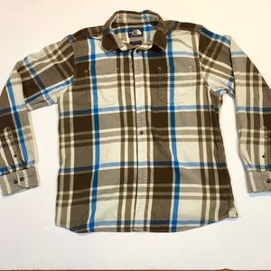 The North Face Long Sleeve Flannel - LARGE